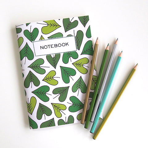 "A5 notebook ""Happy HEARTic Leaves"""