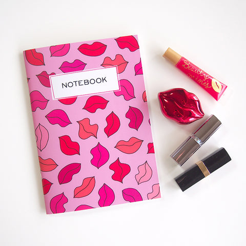 "A5 notebook ""Fascinated Lips"""