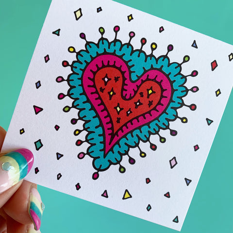 """Sparkling Heart"" mini card set"