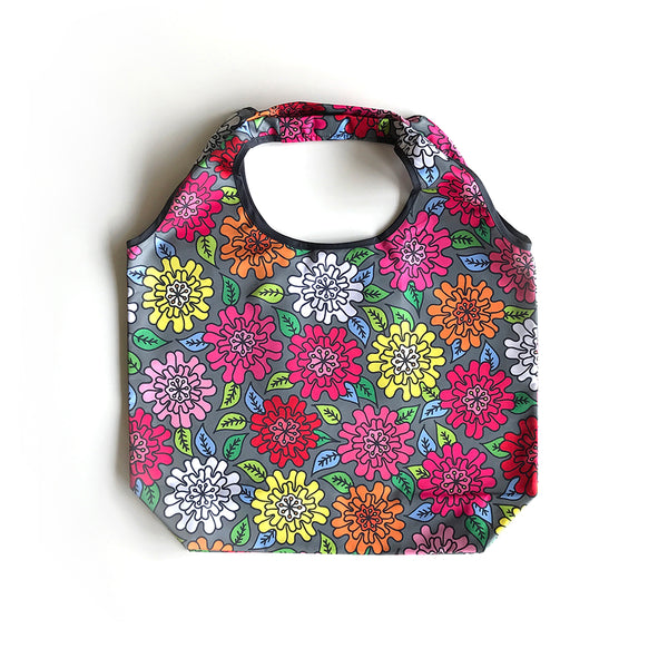 "Reusable Foldable Shopping Bag ""HEARTic FUNKY flower"""