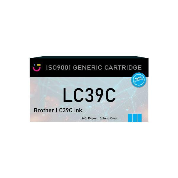 Brother LC39C Cyan Ink Cartridge - Compatible - tonerandink.co.za