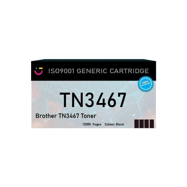 Brother TN3467 Black toner cartridge - Compatible - tonerandink.co.za