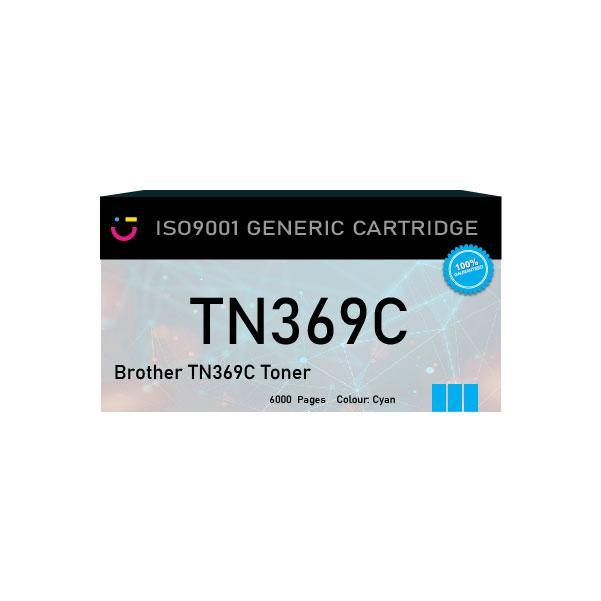 Brother TN369C Cyan toner cartridge - Compatible - tonerandink.co.za