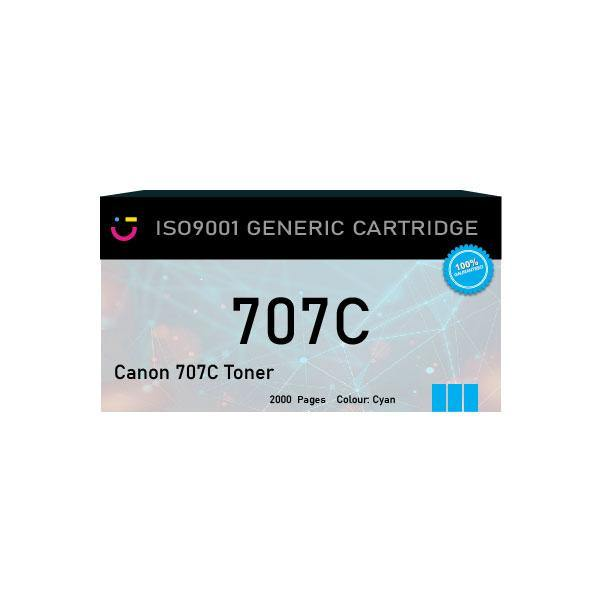Canon 707 Cyan Toner Cartridge - Compatible - tonerandink.co.za