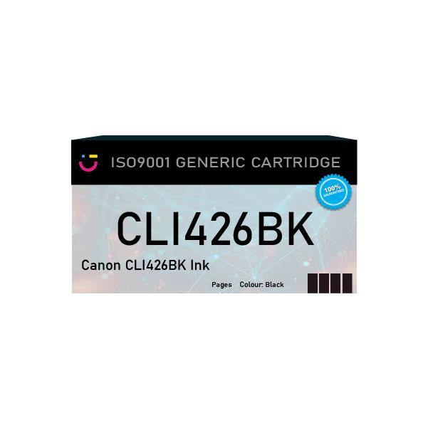 Canon CLI426BK Black ink cartridge - Compatible - tonerandink.co.za