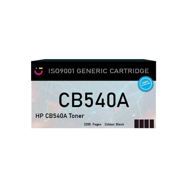 HP 125A (HP-CB540A) Black toner cartridge - Compatible - tonerandink.co.za
