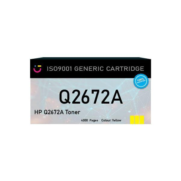 HP 309A (HP-Q2672A) Yellow toner cartridge - Compatible - tonerandink.co.za
