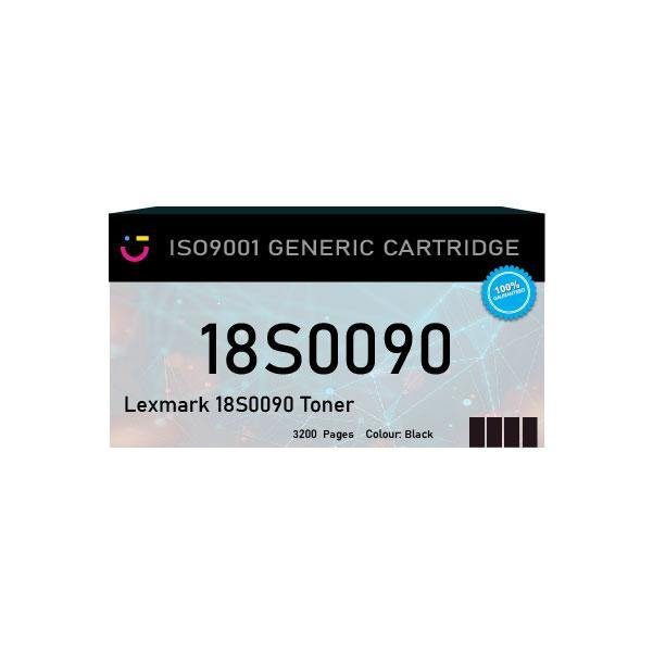 Compatible Lexmark 18S0090 Black toner cartridge - tonerandink.co.za