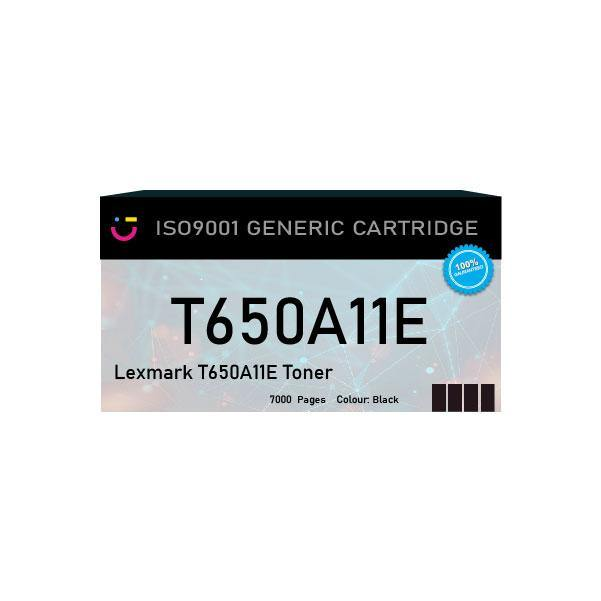 Compatible Lexmark T650A11E Black toner cartridge - tonerandink.co.za