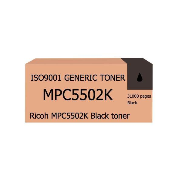 Compatible Ricoh MPC5502K Black toner - tonerandink.co.za