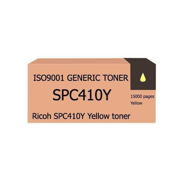 Compatible Ricoh SPC410Y Yellow toner - tonerandink.co.za