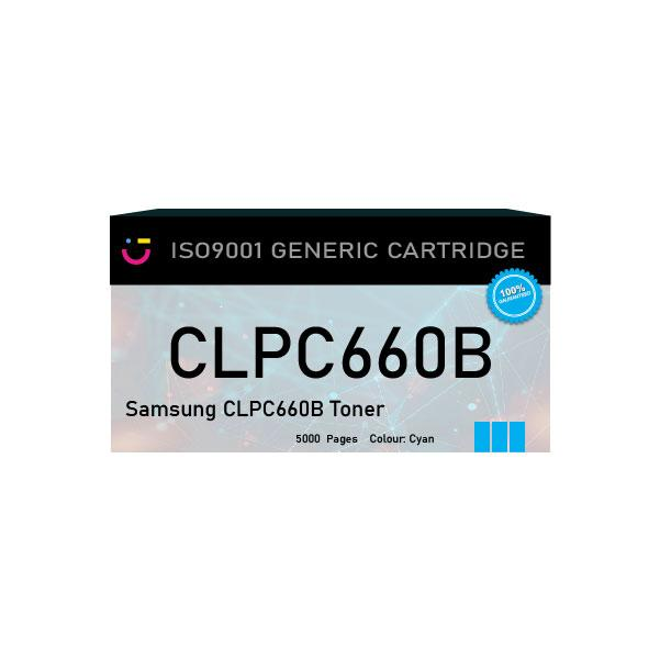Compatible Samsung CLPC660B Cyan toner cartridge - tonerandink.co.za