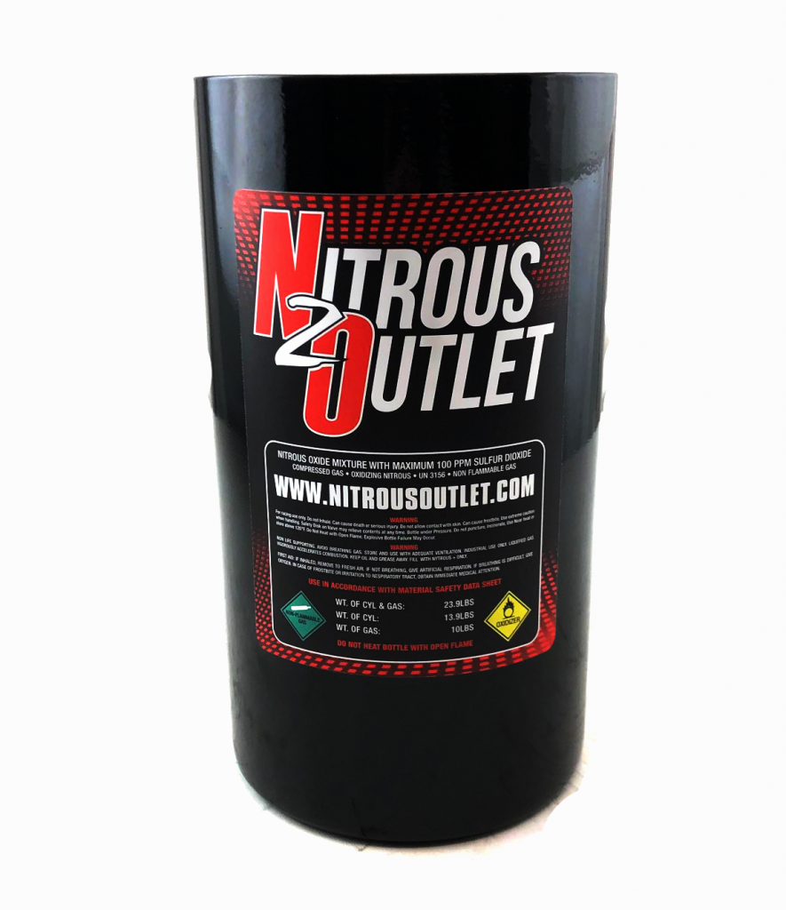 Nitrous Outlet Trashcan - 10lb Nitrous Bottle