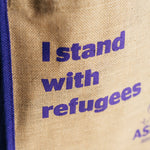 Load image into Gallery viewer, Stand With Refugees Tote Bag