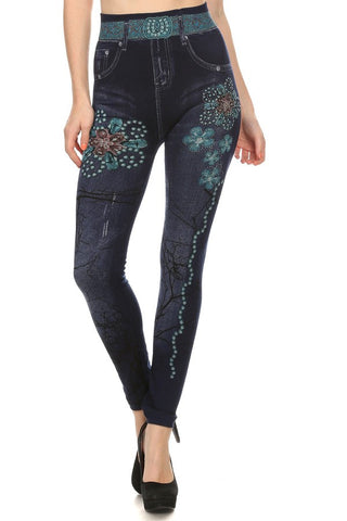 Printed Jegging With Lining #751C