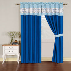 Arpie Window Curtain with Embroidered Valance