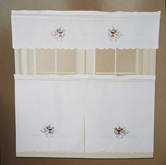 Gourmet Embellished Kitchen Curtain Set