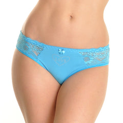 Cotton panty with lace.