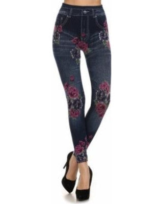 Rose Printed Leggings