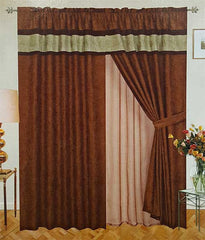 Soft Micro Suede Window Curtain Set