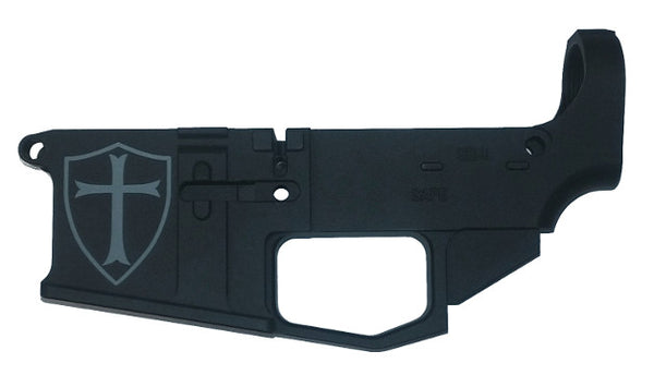 80% AR15 Lower Receiver Blank, Engraved Black Type III Anodize