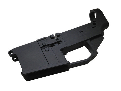 80% AR15 Lower Receiver Blank, Black Cerakote Finish