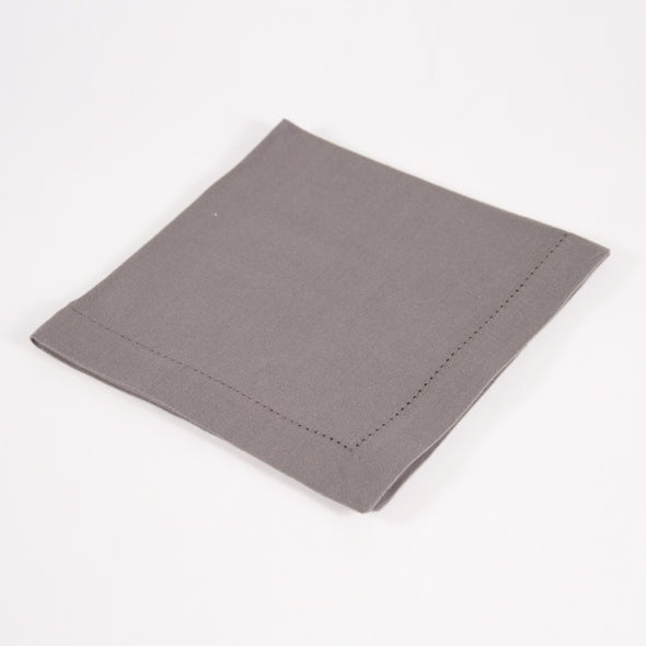 Hemstitch Napkin Gray