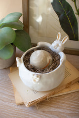 Ceramic Rabbit Planter
