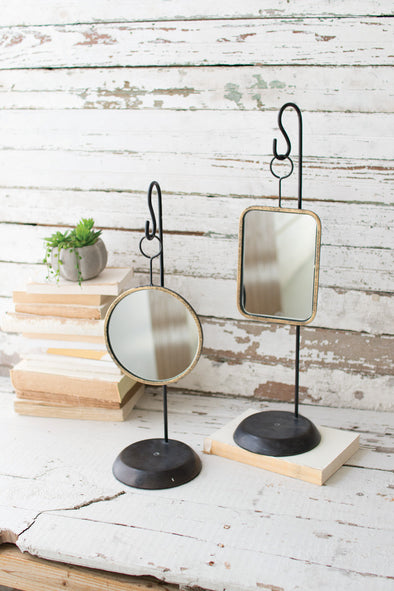 Table Top Metal Mirrors 2 Styles