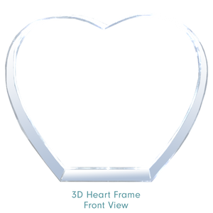 Load image into Gallery viewer, 3d Heart Frame