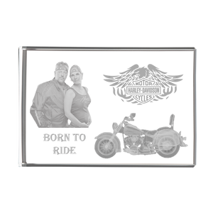 Load image into Gallery viewer, 3D Rectangle Block - Harley Davidson Couple