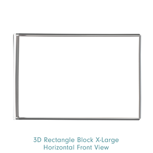 Load image into Gallery viewer, Optic Crystal Horizontal XLarge 3D Rectangle Block - Front View