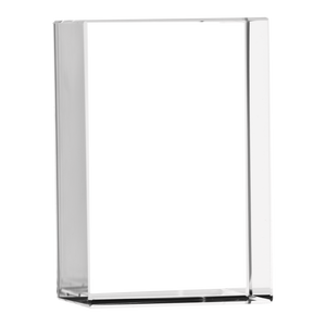 Optic Crystal Vertical XLarge 3D Rectangle Block - Angled View