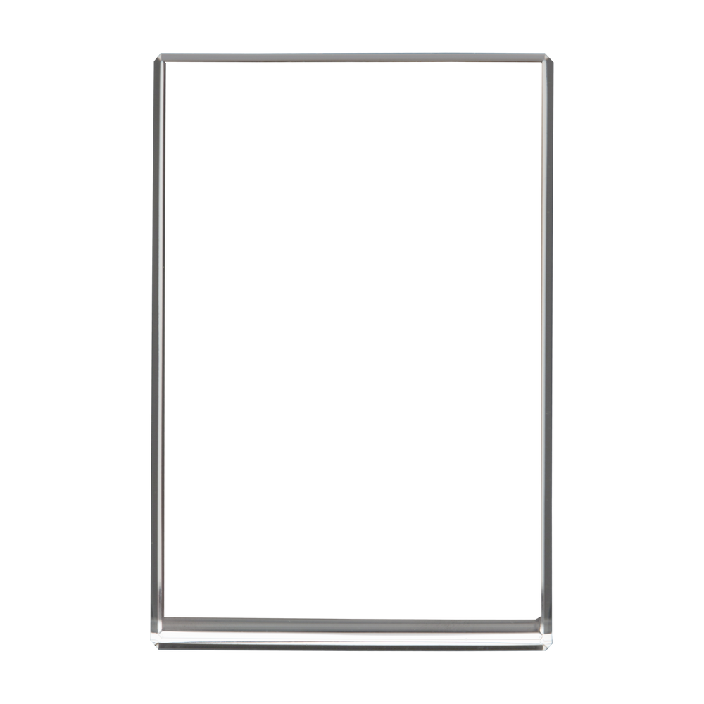 Optic Crystal Vertical XLarge 3D Rectangle Block - Front View