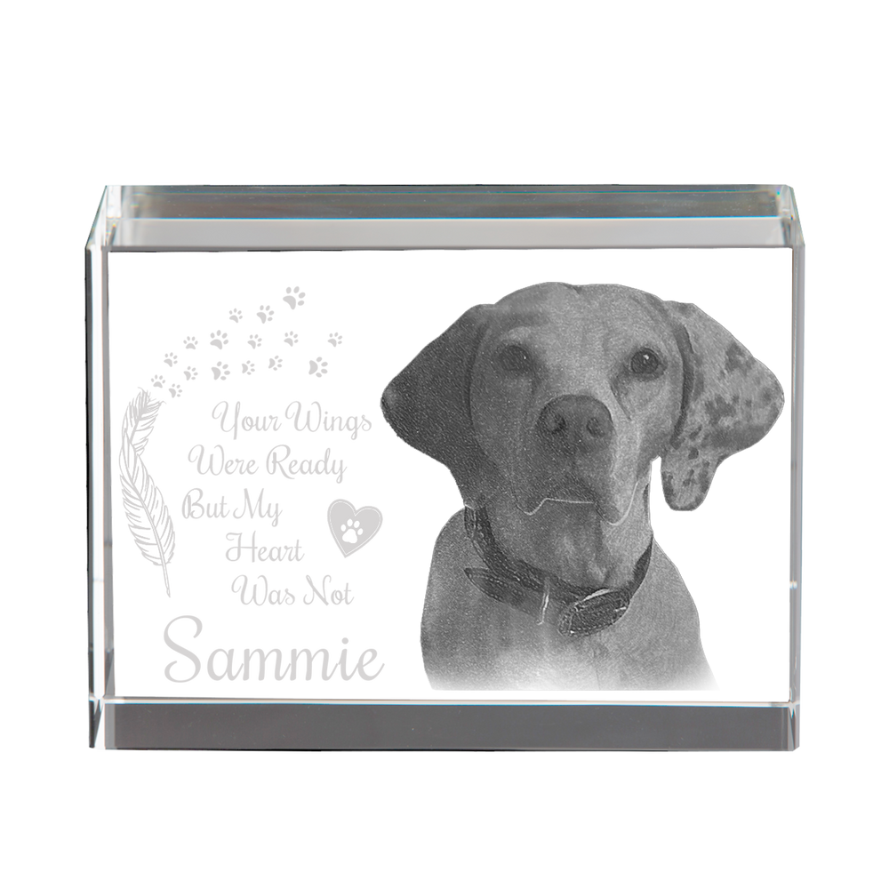 3D Rectangle Frame - Dog Memorial