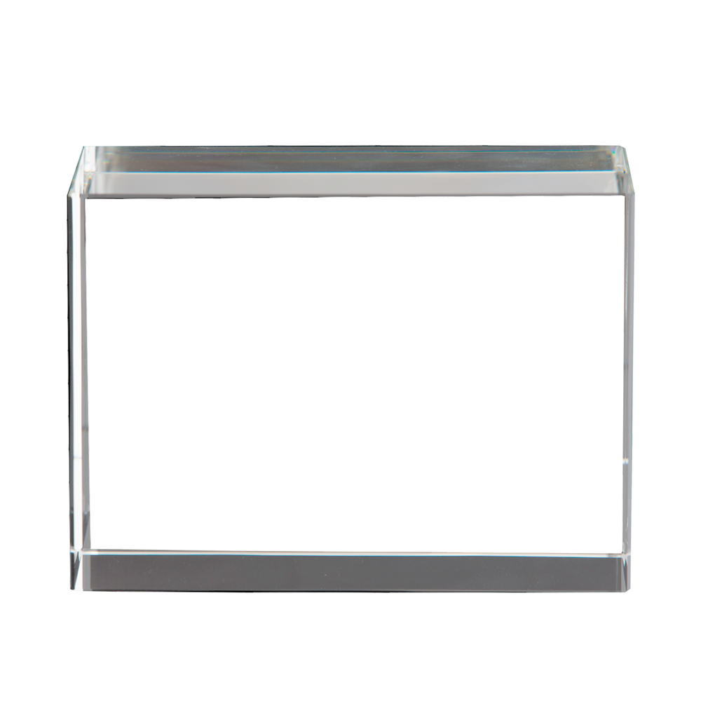 Optic Crystal Horizontal 3D Rectangle Frame