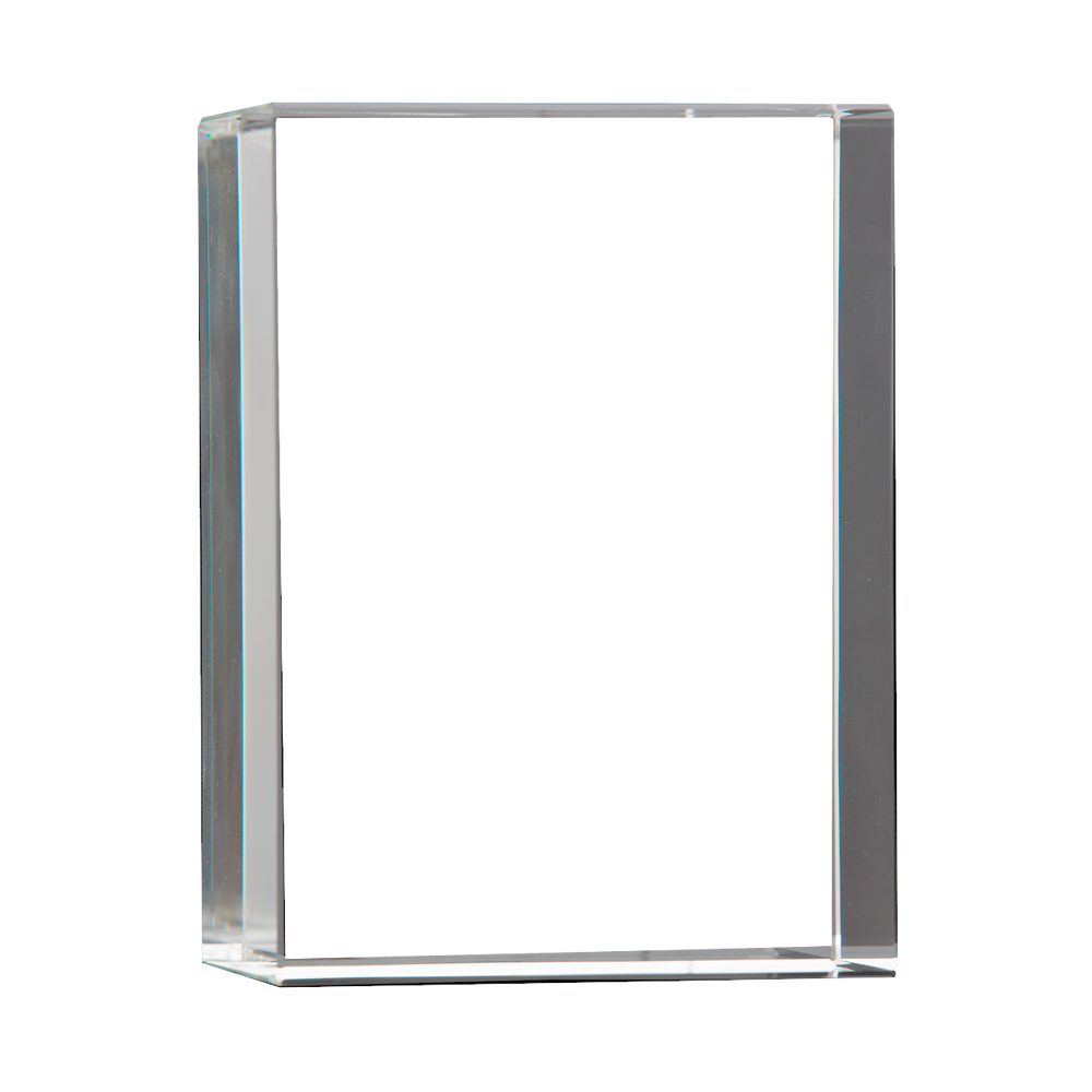 Optic Crystal Vertical 3D Rectangle Frame
