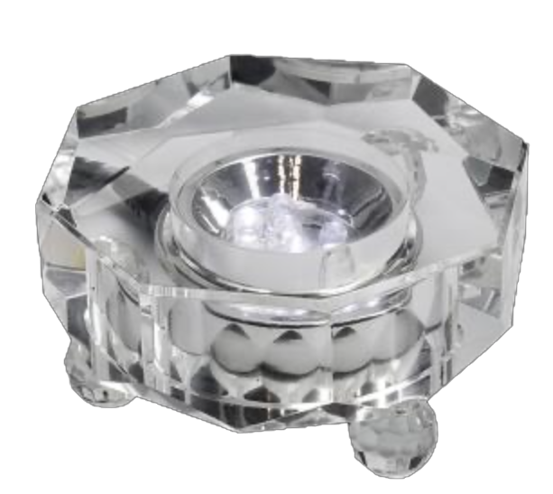 Lighted LED Crystal Octagon Base