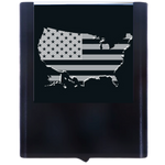 Night Light US Flag with Map