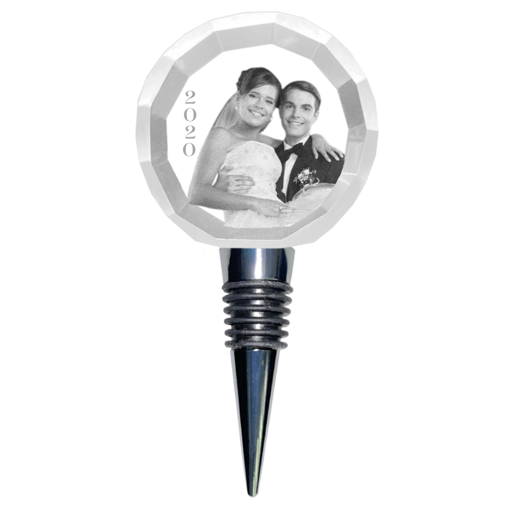 Load image into Gallery viewer, Wine Stopper Faceted Circle