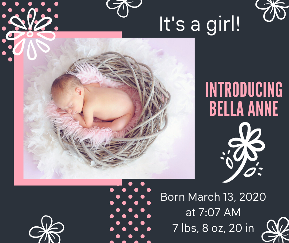Birth Announcement  Girl