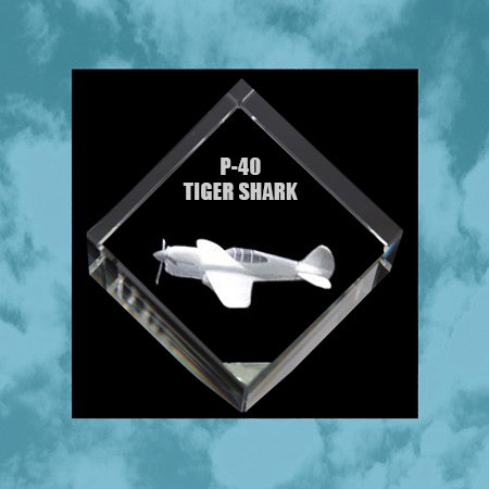 P40 Tiger Shark 3D Diamond Cube