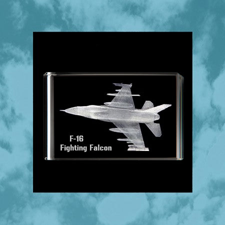 F16 Fighting Falcon 3D Rectangle Cube