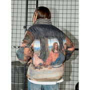 "Last Supper Puffer Jacket - Donsmoke ~ ""I Don't Smoke"" Chinese Streetwear"