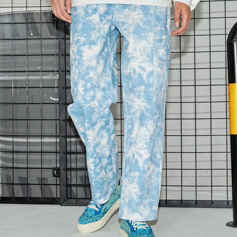 Cloud Tie Dye Cargo Pants - 'I Don't Smoke' Donsmoke Streetwear