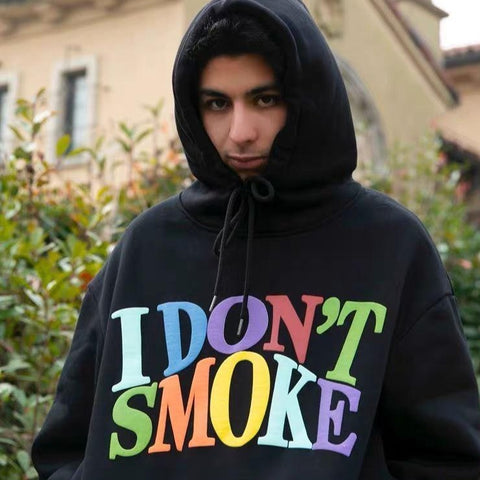 "Multi-Color Logo Hoodie - Donsmoke ~ ""I Don't Smoke"" Chinese Streetwear"