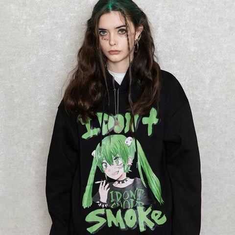 I Don't Smoke Animation Hoodie - 'I Don't Smoke' Donsmoke Streetwear