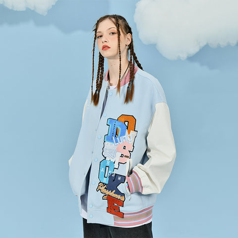 "Stacked Letter Jacket - Donsmoke ~ ""I Don't Smoke"" Chinese Streetwear"