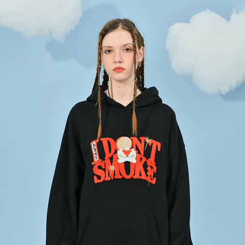 Chinese New Year Logo Hoodie - 'I Don't Smoke' Donsmoke Streetwear