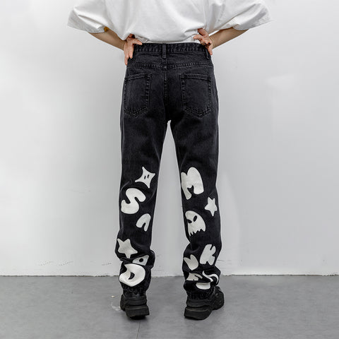 "Floating Figment Jeans - Donsmoke ~ ""I Don't Smoke"" Chinese Streetwear"